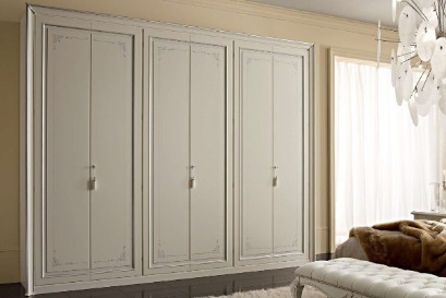 Large classic wardrobe in the bedroom