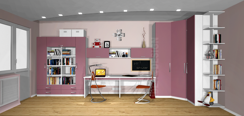 Design project of children's furniture for 2 children