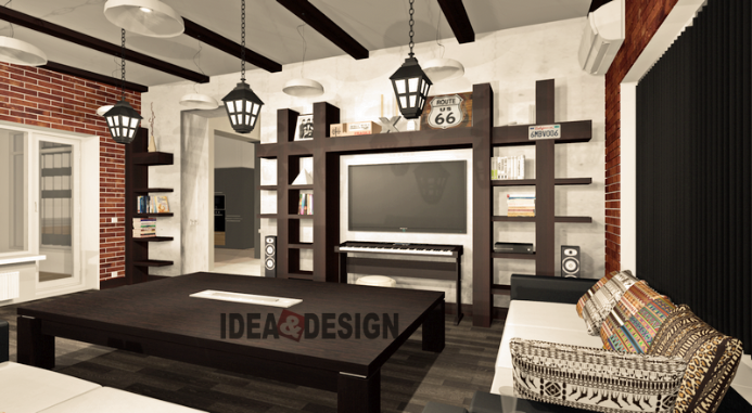 Design project living room loft style