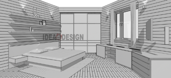 The design of the project the overall appearance of the bedroom