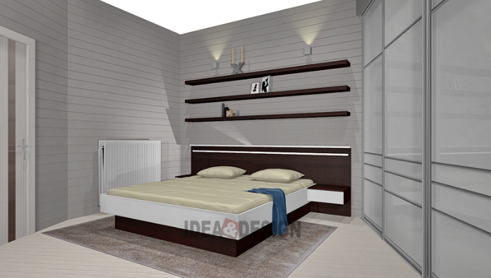 Design project of a bedroom under the order for a country house