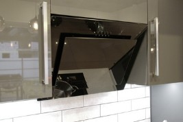 Design of built-in hood in the kitchen
