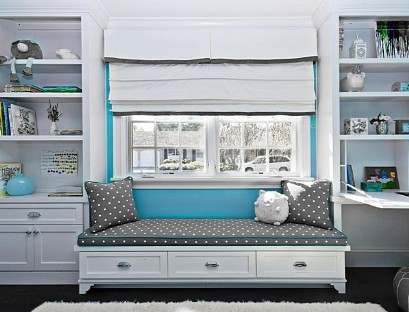 Sofa window with rack