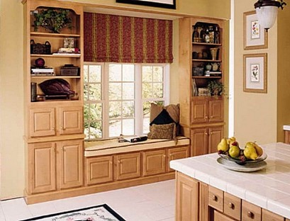 The window seat in the kitchen