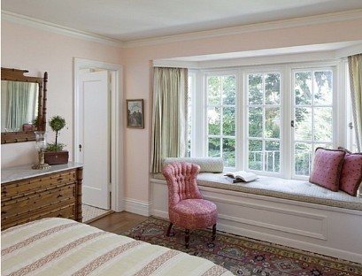 The sofa in the Bay window bedroom
