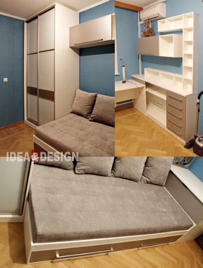 Photo of wardrobe and sofa for teenager
