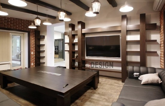 Loft living room furniture idea