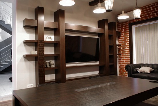 The idea of veneer furniture in the living room