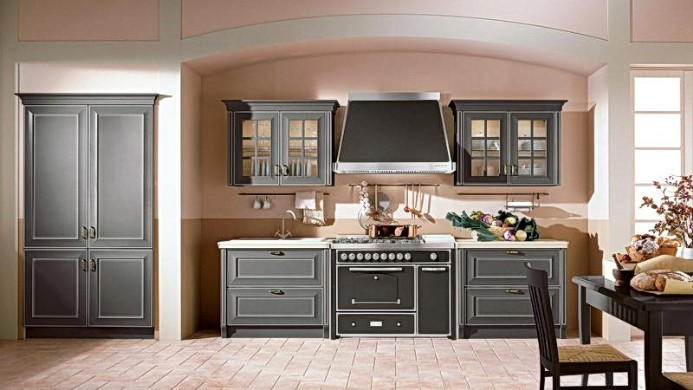 Kitchen with patina