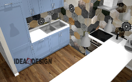 Kitchen panorama design