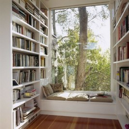 Small library in a country house