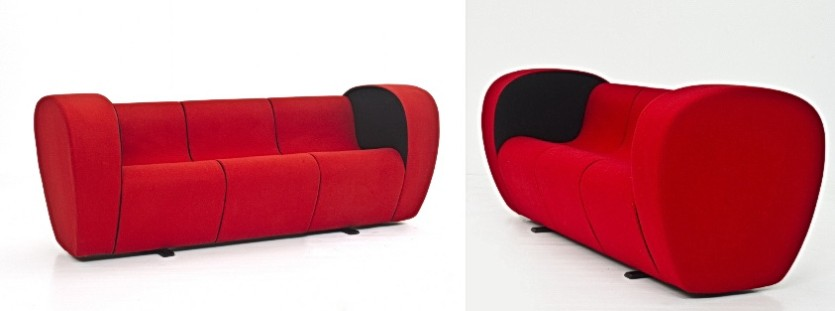 Small red sofa to order