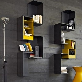 Hinged decorative shelves
