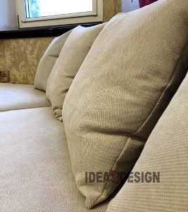 Sofa cushions near the window