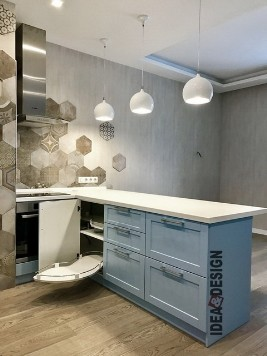 Corner kitchen with island