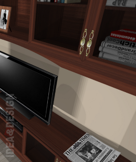 Built-in TV Cabinet library Cabinet