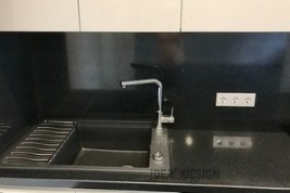 Built-in kitchen sink