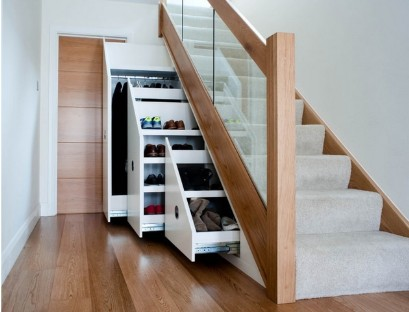 Sliding Cabinet under the stairs